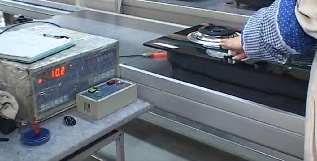 燃气灶具厂家生产燃气灶具时第二道检测