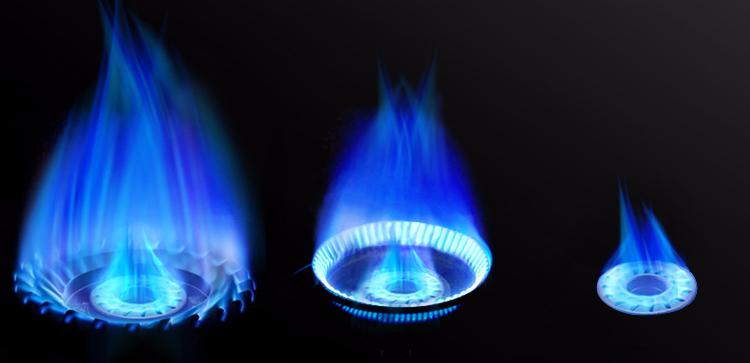 大火燃气炉灶火焰