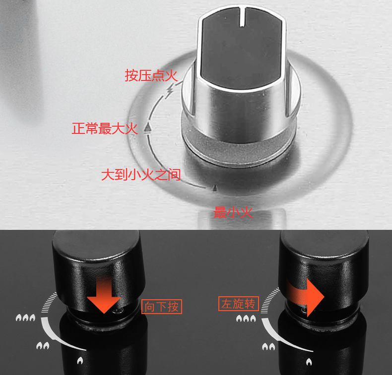 煤气燃气灶火焰大小正确调节方法