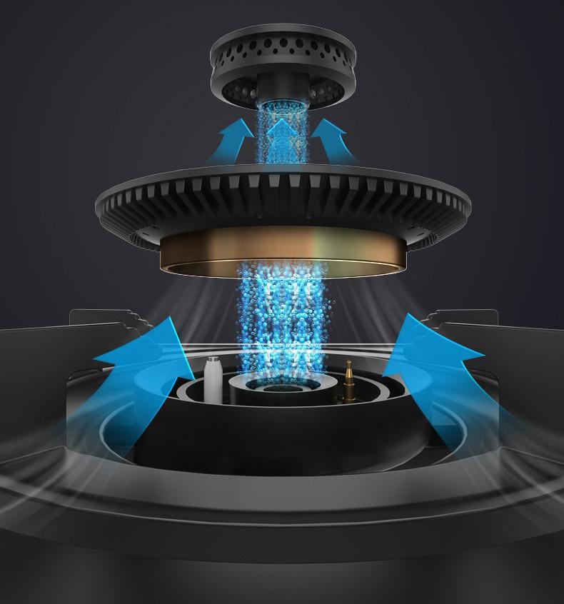 燃气灶分火器与炉头安装工作原理